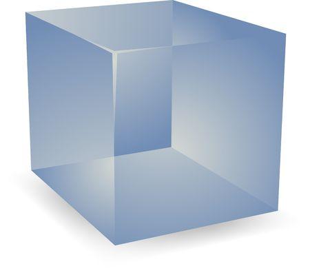 Lege kubus doorschijnend 3d vorm ontwerp illustratie