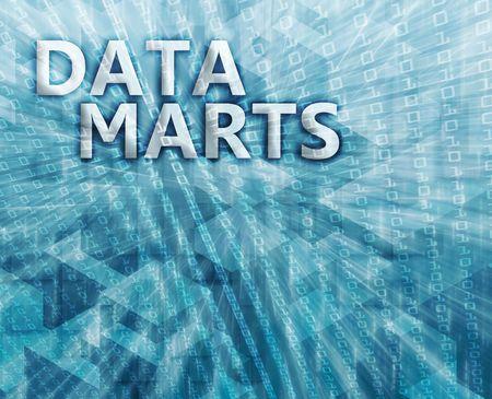 Data mart abstract, computer technology concept illustration illustration