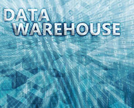 data warehouse: Almacenamiento de datos abstractos, la tecnolog�a de la ilustraci�n concepto de equipo