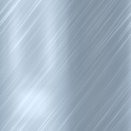 Brushed glossy metal surface, scratched texture background Stock Photo
