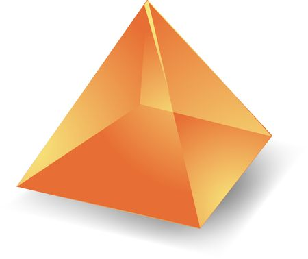 Blank empty 3d translucent pyramid shape illustration Stock Illustration - 4622621