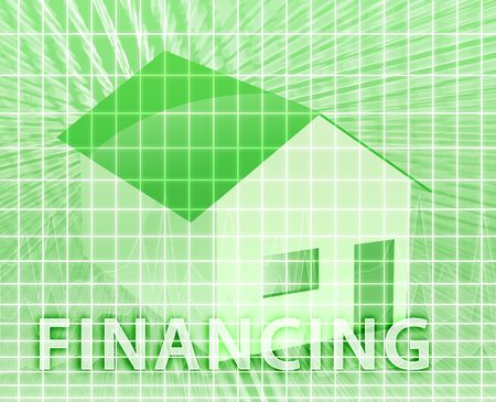 House financing digital collage illustration, subprime loan Stock Illustration - 4622185
