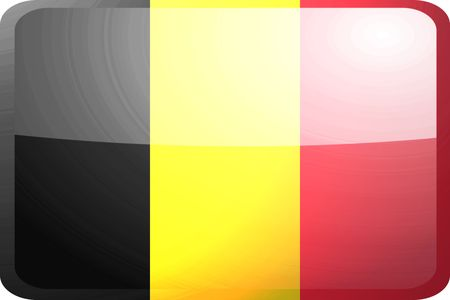 Flag of Belgium, national symbol illustration clipart glossy button icon Stock Illustration - 4648270