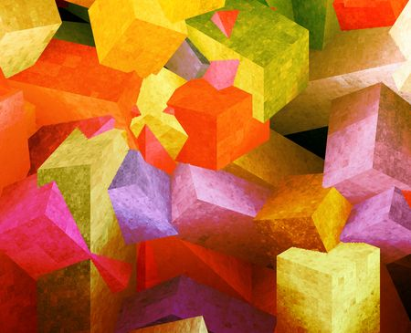 jewel box: Crystal 3d cubes abstract background design illustration