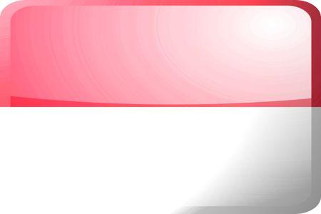 Flag of Monaco, national country symbol illustration glossy button icon illustration
