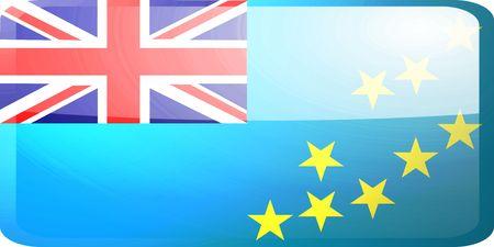 tuvalu: Flag of Tuvalu, national country symbol illustration glossy button icon Stock Photo