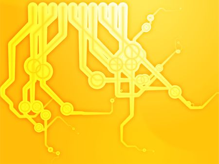 nexus: Abstract technical schematic diagram illustration with circuitry and connection Stock Photo