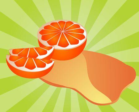 spilling: Freshly cut orange fruit with splash of juice Stock Photo