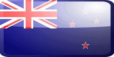 tokelau: Flag of Tokelau, national country symbol illustration glossy button icon Stock Photo