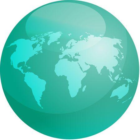 Mapa del mundo en la esfera color brillante Foto de archivo - 4742929