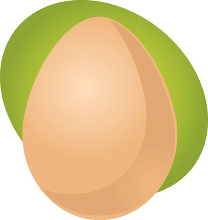 whole chicken: Egg illustration clipart whole uncracked unpeeled in shell