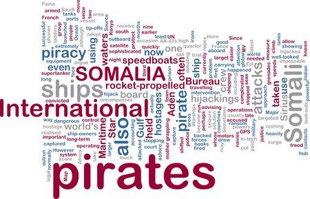 speedboats: Word cloud concept illustration of Somali pirates