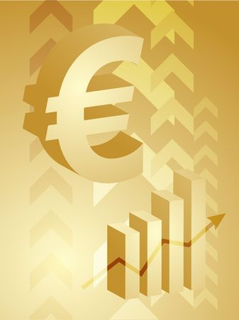 barchart: Abstract financial success illustration with Euro currency
