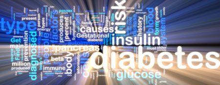 trzustka: Słowo Chmura koncepcji ilustracji cukrzycy warunkiem rozjarzony neon świetle stylu