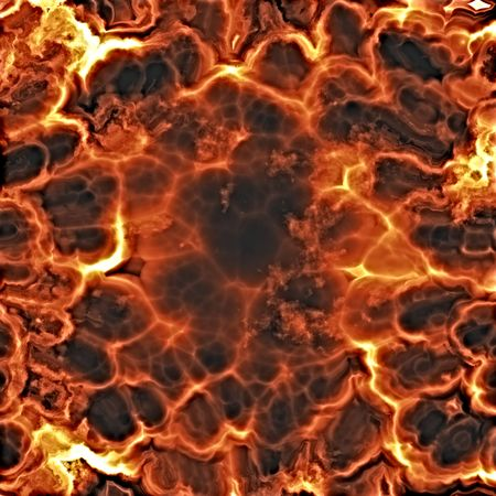 crackling: Fiery explosion and flames texture, rendered illustration Stock Photo