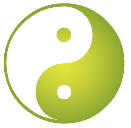 Yin yang symbol oriental representation of duality photo