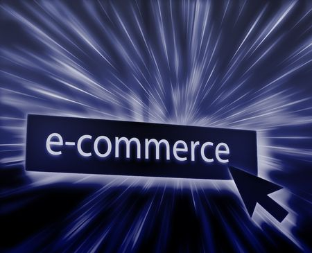clicking: Ecommerce button, illustration clicking on web technology