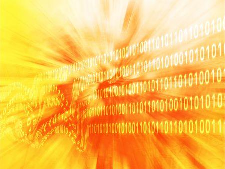 disruption: Illustration of corrupt data, damaged binary information