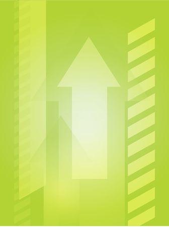 thrusting: Forward moving arrows pointing upwards, design illustration Stock Photo