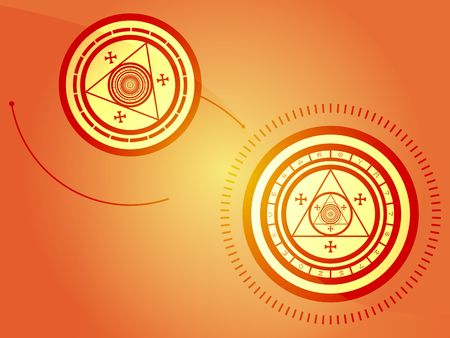 alchemical: Wierd arcane symbols that look strange and occult