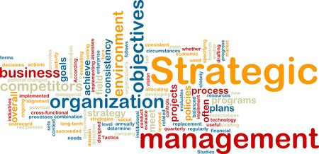 consistency: Word cloud tags concept illustration of strategic management Stock Photo