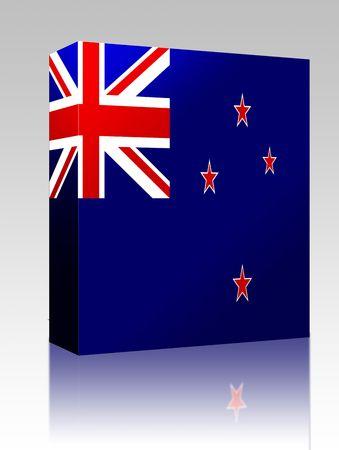 tokelau: Software package box Flag of Tokelau, national country symbol illustration