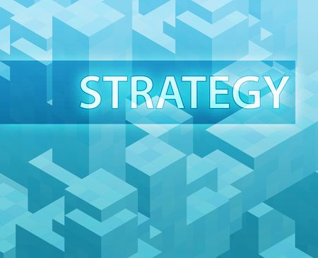 Strategy illustration, management organization structure concept clipart illustration