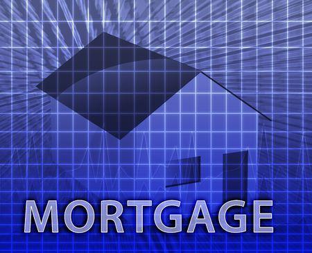 House financing digital collage illustration, subprime loan illustration