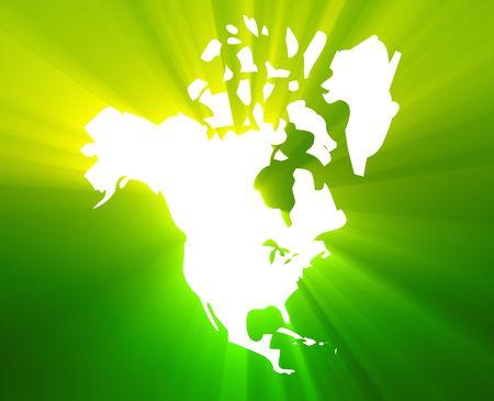 continente americano: Mapa del continente americano, Estados Unidos Canad� M�xico