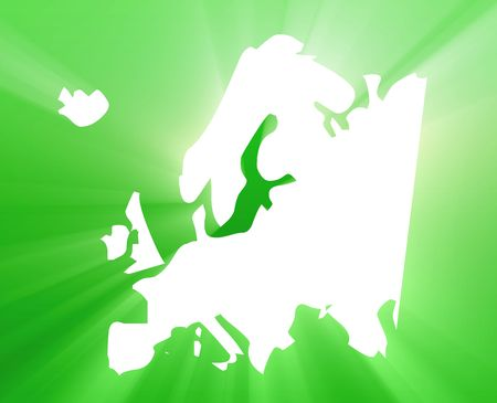 the appearance: Map of Europe illustration, glowing shining light appearance