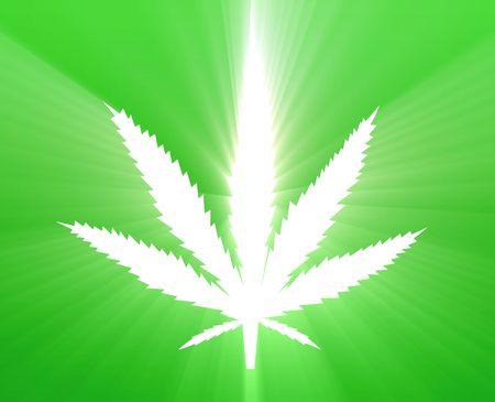 Marijuana cannabis leaf illustration, abstract symbol design Stock Illustration - 4907268