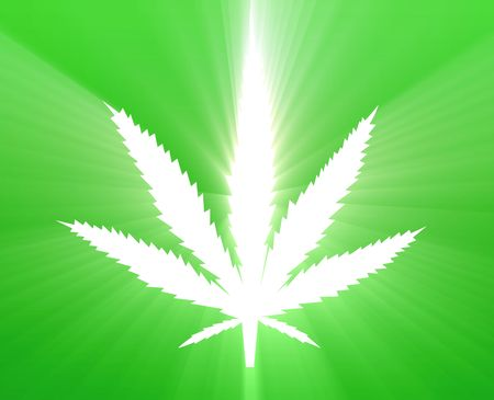 Marijuana cannabis leaf illustration, abstract symbol design Stock Illustration - 4907268