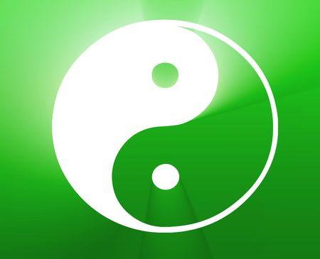 Yin yang symbol oriental representation of duality Stock Photo