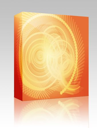twirling: Software package box Abstract geometric spiral design wallpaper background illustration