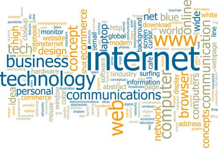 browser business: Word cloud concept illustration of internet web Stock Photo