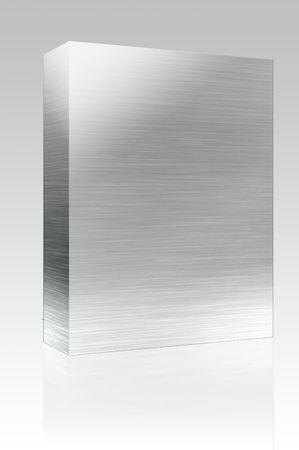 Software package box Texture background illustration of brushed glossy metal surface Stock Illustration - 4943595