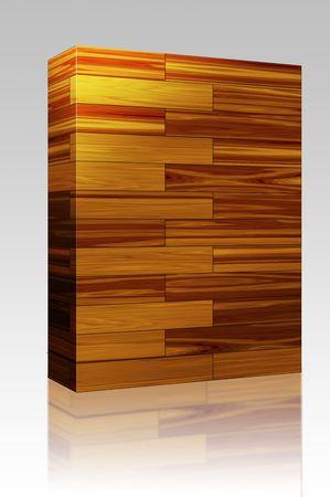 interlinked: Paquete de software de caja de madera parquet patr�n de superficie de textura de fondo sin fisuras