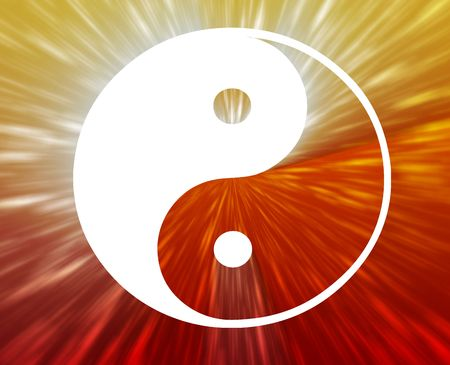 ying yan: Yin yang symbol oriental representation of duality Stock Photo