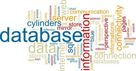 dataflow: Palabra nube concepto ejemplo de almacenamiento de base de datos