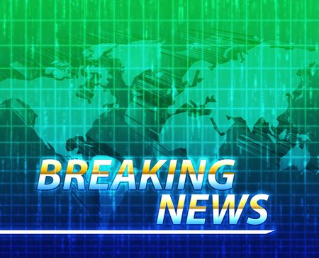 latest news: Latest breaking news newsflash splash screen announcement illustration