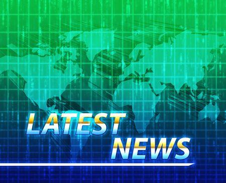Latest breaking news newsflash splash screen announcement illustration Stock Illustration - 4943706