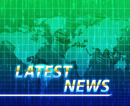 Latest breaking news newsflash splash screen announcement illustration Stock Illustration - 4943706