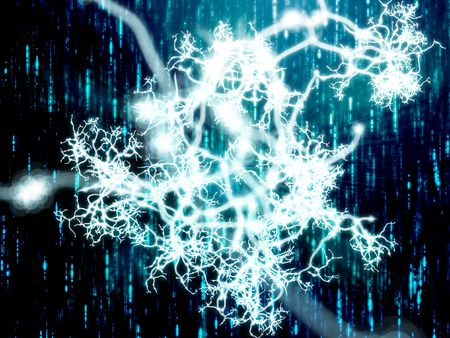 dendrites: Illustration of a neural network carrying information
