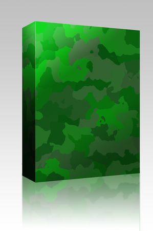 camoflage: Software package box Camouflage pattern, graphic wallpaper texture design in various colors