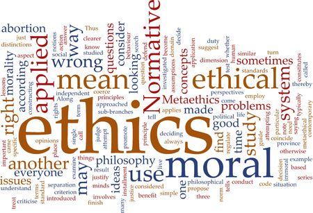 Palabra nube concepto ejemplo de la ética moral Foto de archivo - 4986117
