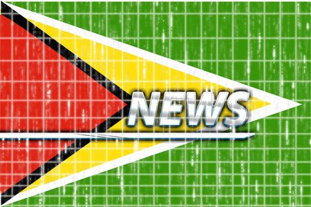 News information splash Flag of Guyana, national country symbol illustration Stock Illustration - 4986097