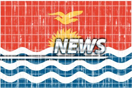 kiribati: News information splash Flag of Kiribati , national country symbol illustration Stock Photo