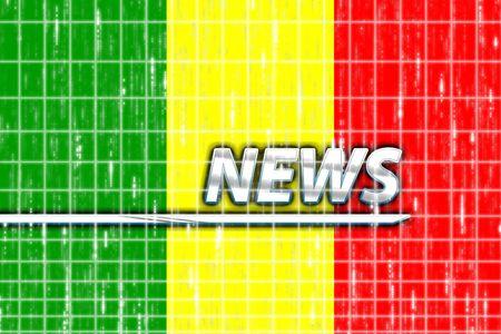 News information splash Flag of Mali, national country symbol illustration illustration