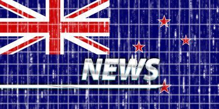 tokelau: News information splash Flag of Tokelau, national country symbol illustration