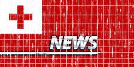 News information splash Flag of Tonga, national country symbol illustration illustration